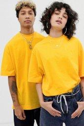 Sarı Oversize Unisex Basic Tişört