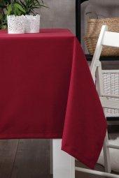 Zeren Home Dertsiz Düz Mutfak Masa Örtüsü Bordo 160cm X 250cm