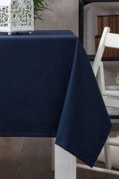 Zeren Home Dertsiz Düz Mutfak Masa Örtüsü Lacivert 140cm X 180cm