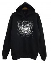 Berserk Anime Baskılı Kapüşonlu Sweatshirt