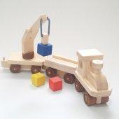 Küplü Ahşap Eğitici Oyuncak Tren Renkli-2