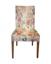 çiçek Desenli Sandalye Kılıfı