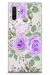 Samsung Galaxy Note 10 Plus Kılıf Şeffaf Rosie Serisi Amiyah