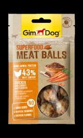 Gimdog Meatballs Havuç Keten Tohumu Ve Tavuk Etli Köpek Ödülü 70 Gr