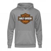 Casual Harley Classic Gri Kapşonlu Hoodie...