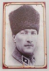 Mustafa Kemal Atatürk Fotoğraflı Retro Tablo