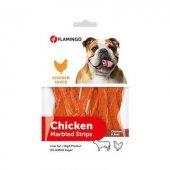 Flamingo Chicken Marblrd Strips Tavuk Ve Biftekli Köpek Ödülü 85 Gr