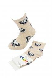 Step Bulldog Pamuklu Kız Çocuk Soket Çorap