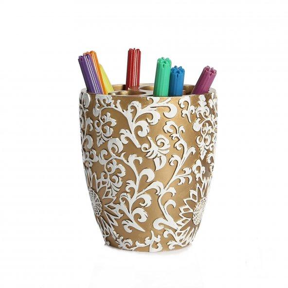 Kalemlik altın örgü model
