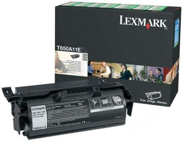 LEXMARK T650A11E T650/652/654/656 SİYAH TONER ORJİNAL 7.000 SAYFA