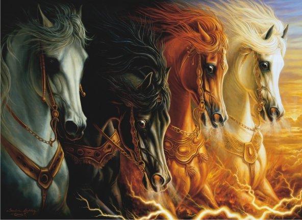 Puzzle 1000 Parça / Mahşerin Dört Atı