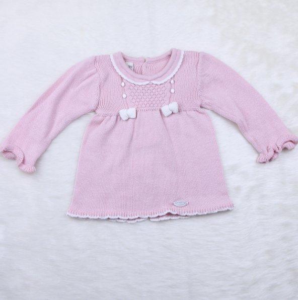 Bebek Triko Elbise 6107 Pembe