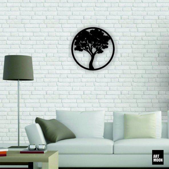 Ağaç Metal Tablo Duvar Dekoru