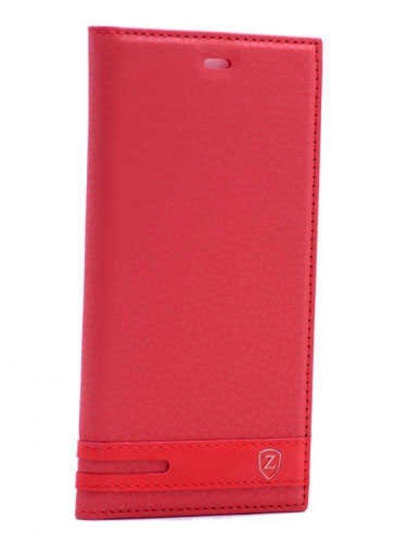 Xiaomi Mi 5 Kılıf Elite Kapaklı Kılıf Kırmızı