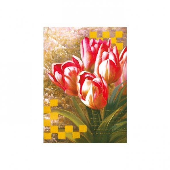 Romantic Tulips Kanvas Tablo 50X70 Cm