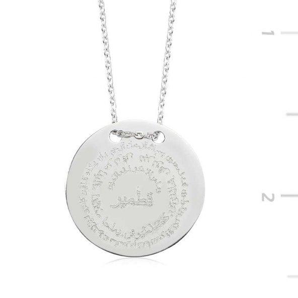 Kıtmir Duası Pirmoda Gümüş Kolye