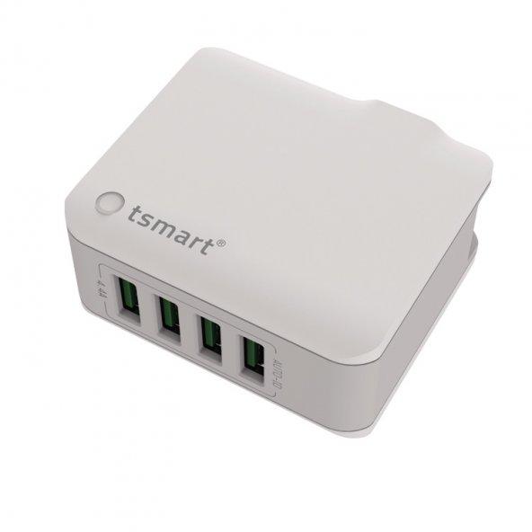 tsmart iPhone Şarj Kablolu 4 USB Seyahat Şarj Cihazı