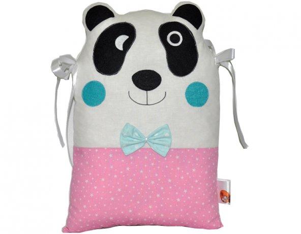 Pembe Panda Beşik Koruma Yastık