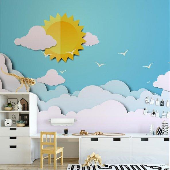 Çocuk Odası Duvar Kağıdı - Güneş - Seçenekli Ürün