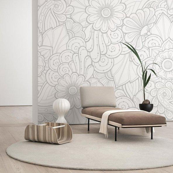 Çiçek Desenli Duvar Kağıdı - Seçenekli Ürün