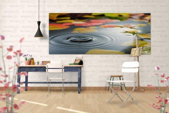 Su Damlacıkları Kanvas Duvar Tablosu 40 cm x 80 cm