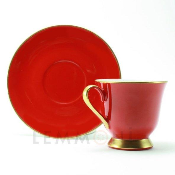 Bohemia Türk Kahvesi Seti 6lı Colours Kırmızı