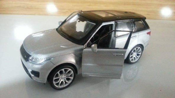 Welly Çek Bırak Metal Model Araba Range Rover 1 / 32 Ölçek  Gri