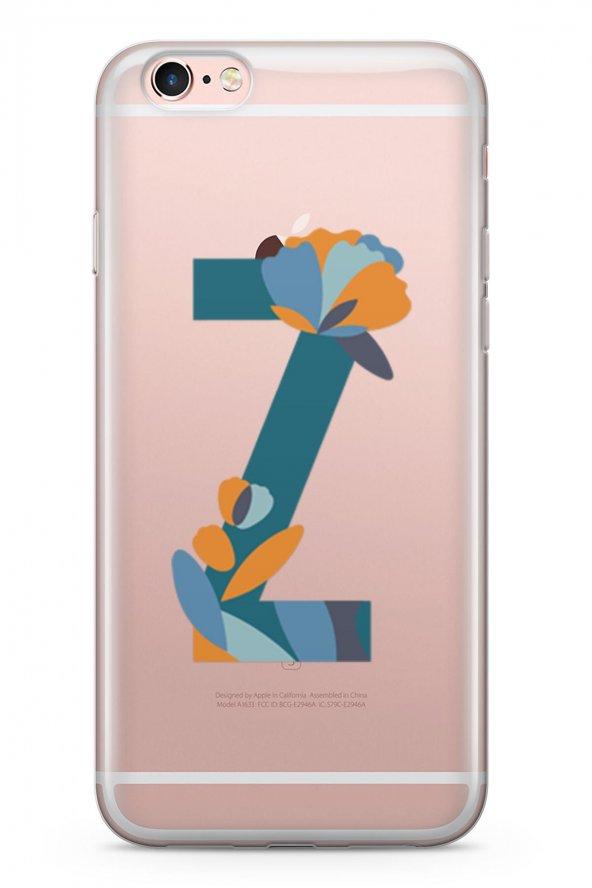 Apple İphone 6 6S Plus Kılıf Silikon Arka Kapak Koruyucu Z Harfi