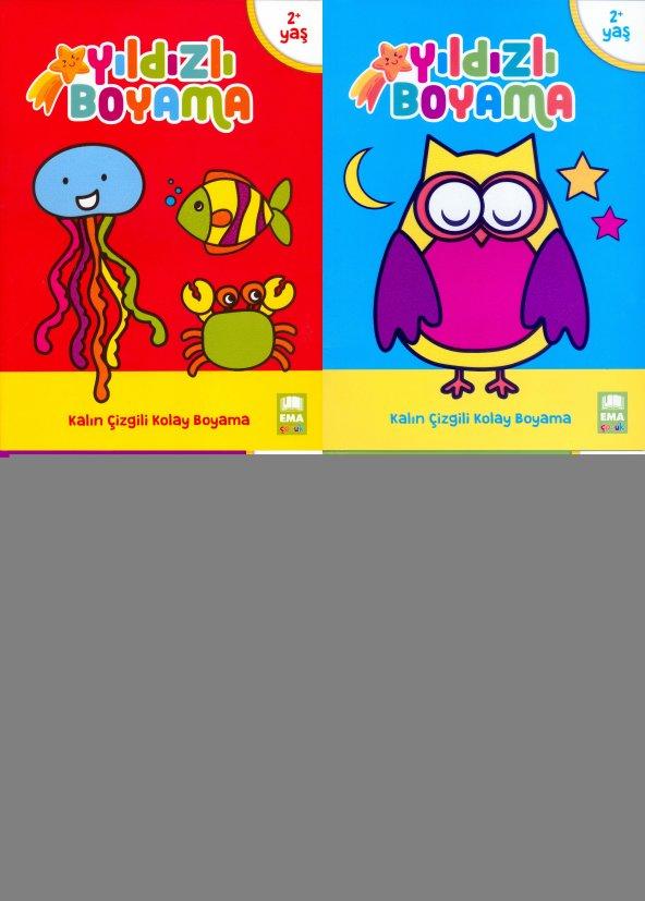 Yıldızlı Boyama Kitabı Seti 4 Kitap - Ema Yayınları