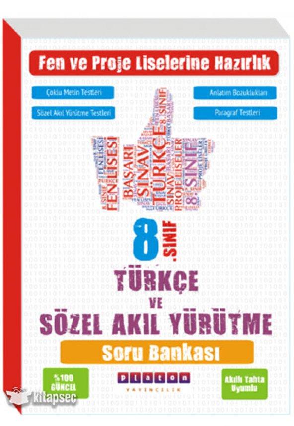 Türkçe Ve Sözel Akıl Yürütme 8.Sınıf Soru Bankası Platon Yayıncıl