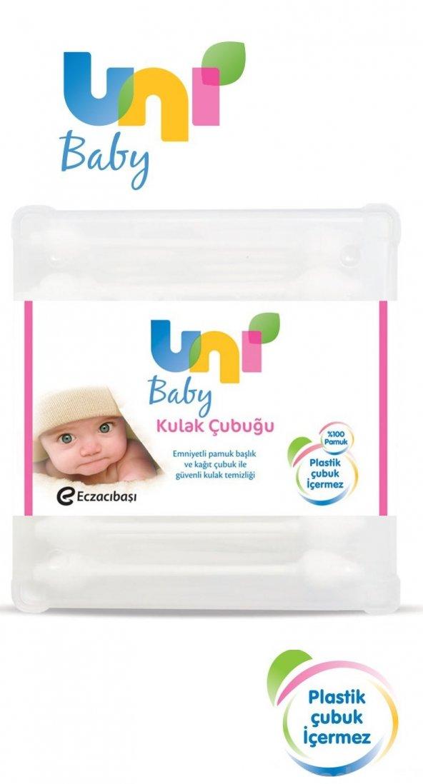 Uni Baby Kulak Temizleme Çubuğu 60 Adet Emniyetli (Bebekler İçin)