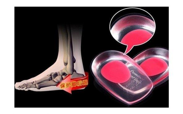 Topuk Yastığı Silikon Şeffaf (Bayan) (Kırmızı) (ÇİFT)