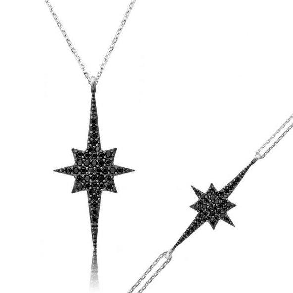 Gümüş Siyah Kutup Yıldızı Bayan Set