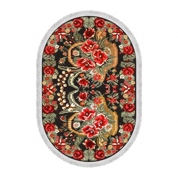 Decoling İpek 1785 Dekoratif Oval Halı