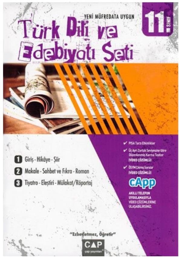 11.Sınıf Anadolu Türk Dili Edebiyatı Seti - Çap Yayınları