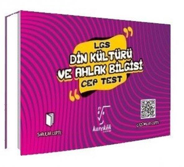 8.Sınıf LGS Cep Test Din Kültürü Ve Ahlak Bilgisi - Karekök Yayınları