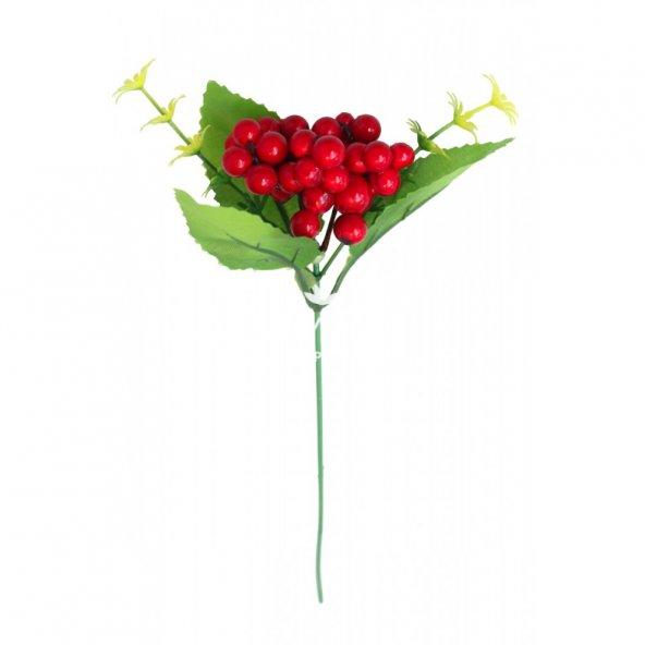 Yapay Çiçek Köpük Ara Dal Kırmızı