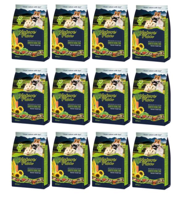 Nature Plan Hamster Yemi 800 Gr x 12 Adet