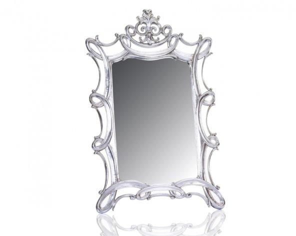 Porio M64-124 - Oymalı Gümüş Ayna 140*90