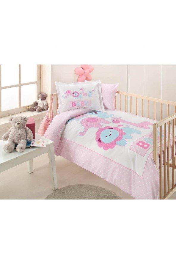 Özdilek Pink Animals Bebek Nevresim Takımı Pembe